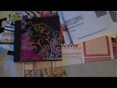 Mini album using recycled business return envelopes.  I love this idea and hope to try it soon!