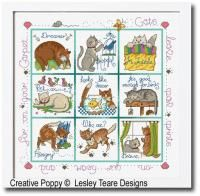 Lesley Teare Designs - Cats in trouble (cross stitch chart)