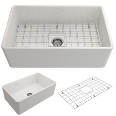 "BOCCHI Classico 30"" Fireclay Farmhouse Apron Single Bowl Kitchen Sink, White, 1138-001-0120 Showcase Image | The Sink Boutique"