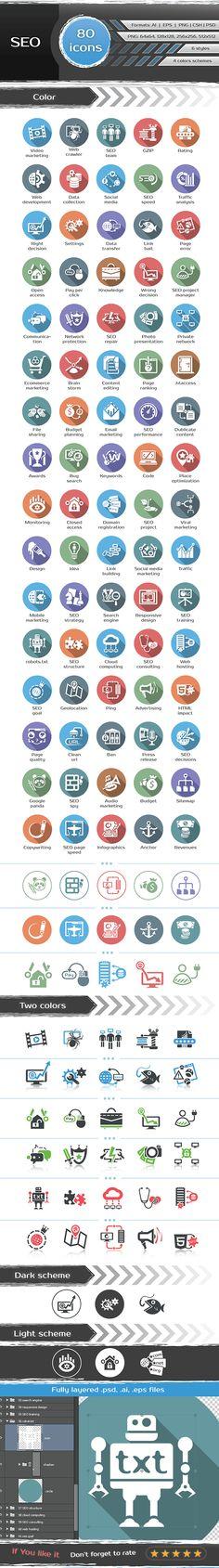 SEO icons on Behance