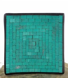 Christmas Gift Ideas: Fairtrade Handmade Square Mosaic Bowl - Jade