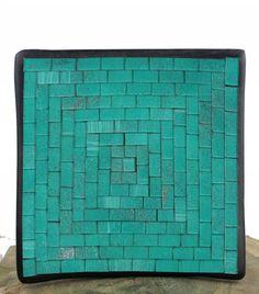 Christmas Gift Ideas: Fairtrade Handmade Square Mosaic Bowl - Jade