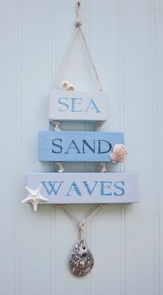 This item is unavailable : Sea Sand Waves Wooden Sign, Beach Decor, Surfer, Coastal Sign Beach House Signs, Beach Signs, Beach House Decor, Beach Houses, Beach Cottage Style, Coastal Style, Coastal Decor, Lake Cottage, Coastal Cottage