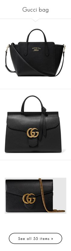 """""""Gucci bag"""" by alexandra2707 ❤ liked on Polyvore featuring bags, handbags, shoulder bags, black, leather cross body purse, crossbody shoulder bags, mini crossbody purse, leather purse, crossbody purse and tote bags"""