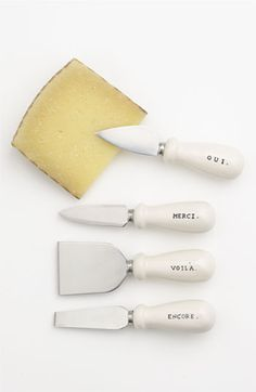 Rae Dunn Cheese Knife Gift Set - Serving Utensils - Shop Nectar