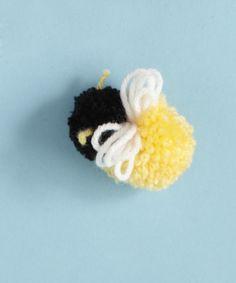 Craft Pattern: Pom-Pom Bee