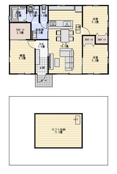 23坪3LDK南玄関の家族で住む小さな平屋の間取り図 | 平屋間取り House Plans, Floor Plans, Interiors, How To Plan, Room, Home Decor, Projects, Blueprints For Homes, Bedroom