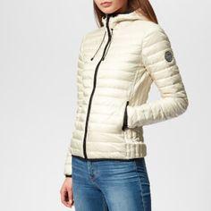 b556c32d2c5 Superdry Women s Core Down Hooded Jacket - Iceberg Womens Clothing