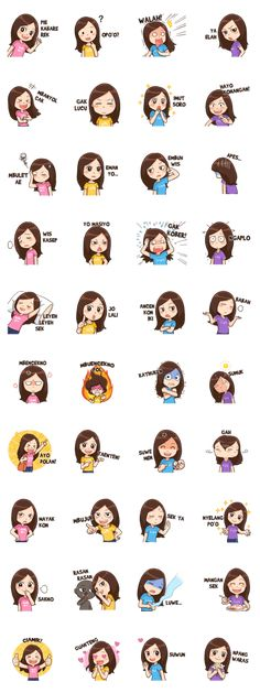 Meet Lola, cheerful Surabaya girl who loves to speak Suroboyoan! Use her stickers to chat with your friends! New Sticker, Line Store, Illustrations Posters, Animals And Pets, Stickers, Meme, Funny, Gift, Projects