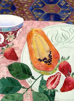 strawberries and papaya by Mango Frooty, via Flickr