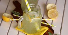Perlivá citronáda s vůní šalvěje slazená stévií