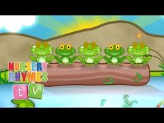 Five Speckled Frogs - Nursery Rhymes TV- great to use with the lily pad subtraction activity! New Nursery Rhymes, Nursery Songs, Classic Nursery Rhymes, Baby Songs, Baby Music, Kids Songs, Preschool Ideas, Preschool Class, Kindergarten Math
