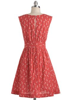 Too Much Fun Dress in Red Anchors, #ModCloth