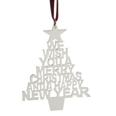 SET OF 2 FLAT TREE SLOGAN ORNAMENTS Wish everyone a Merry Christmas anytime! These nickelplated stainless steel ornaments carry a joyful slogan appropriate for any Christmas activity. Perfect for trees, wreaths or in the window!  #960638 $12.99 SOLD OUT   www.lambertpaint.com
