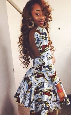 ***Try Hair Trigger Growth Elixir*** ========================= {Grow Lust Worthy Hair FASTER Naturally with Hair Trigger} ========================= Go To: www.HairTriggerr.com ========================= This Ankara Dress Is Cute...and Love Her Long Curls Too!