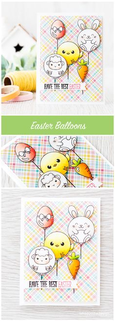 Easter balloons. Find out more by clicking on the following link: http://limedoodledesign.com/2016/03/easter-balloons/