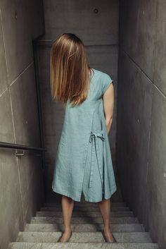 Vestido de lino Motumo 14S14 por MotumoLinen en Etsy
