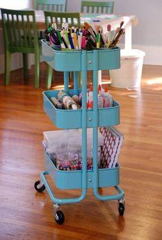40 Smart Ways To Use IKEA Raskog Cart For Home Storage - DigsDigs