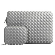 MOSISO Laptop Sleeve Compatible with inch MacBook Pro, MacBook Air, Notebook Computer, Diamond Foam Neoprene Bag Cover with Small Case, Gray Notebook Bag, Notebook Laptop, Laptop Stand, Laptop Case, Laptop Covers, Computer Bags, Laptop Computers, Ipad Pro, New Surface Pro