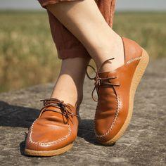 吐火罗原创手工鞋 超舒服真皮纯皮系带平底单鞋 休闲平跟女鞋子-淘宝网