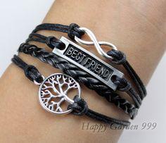 KarmaBest friend braceletfriendship by happygarden999 on Etsy, $7.99