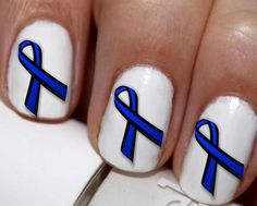 20 pc Thin Blue Line Heart Police Support Ribbon I Love My Police Man Nail Art Nail Decals Nail Stickers Lowest Price On Etsy #cg0571na