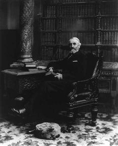 While most librarians operate on a local level, a few reach national positions like the Librarian of Congress. Here is one such success story, that of Ainsworth Rand Spofford, the sixth Librarian of Congress, photographed sometime around the time his term ended in 1897.