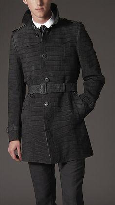 Men's Coats | Pea, Duffle & Top Coats | Burberry | Leather trench ...