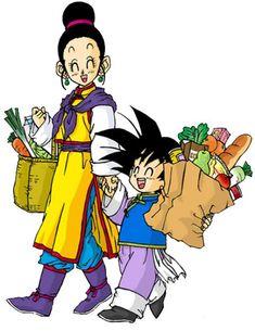 Cute Dragon Ball Z Chichi (Milk) and Goten