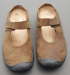 Womens KEEN Nubuck Slides Sandals Mules Size 7.5 Brown KEEN Saratoga Slip On #KEEN #Slides #Casual