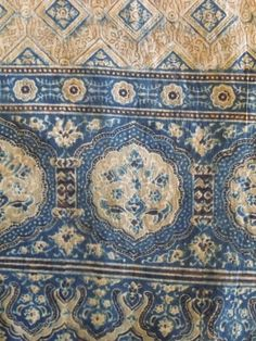 Indigo-dyed Indian fabric