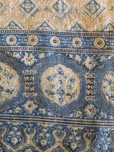 Indigo-dyed Indian fabric