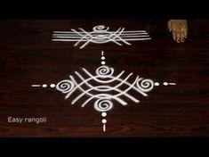 easy freehand rangoli designs for evenings    simple muggulu designs    easy kolam designs - YouTube