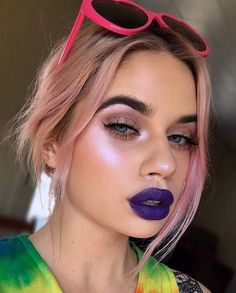 Pinterest:@MagicAndCats ☾ That pink glow tho! @laurenrohrer slaying the PINK highlighter from #HILITE: Opals palette, available now! limecrime.com/hilite