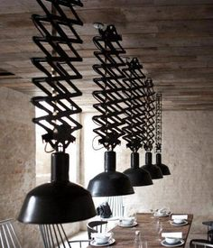 Pendant Extendable Light Fixtures - Intimate & cozy or spacious...you select the height.  Fantastic!