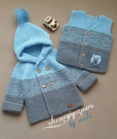 Baby Cardigan Knitting Pattern Free, Baby Sweater Patterns, Crochet Baby Cardigan, Knit Baby Dress, Baby Hats Knitting, Knitting For Kids, Baby Knitting Patterns, Knitted Baby Outfits, Knitted Baby Clothes