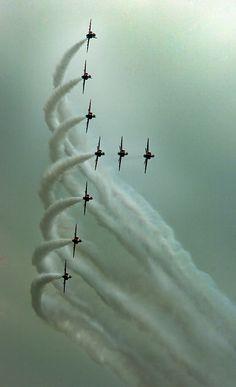 RAF Red Arrows by Angel tarantella