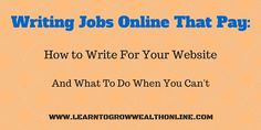 Finding writing jobs online that pay can be a challenge. Today we'll show you…