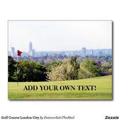 Golf Course London City Postcard