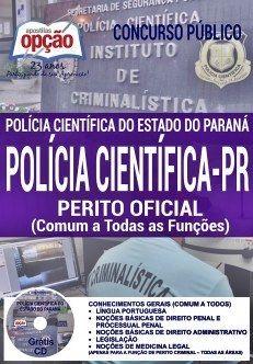 Apostila Concurso Polícia Científica PR 2017 - Opção Apostilas para Concursos