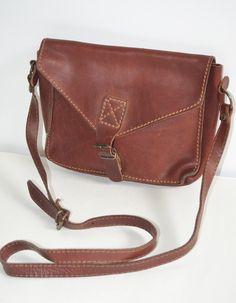 Vintage Eddie Bauer Leather Shoulder Purse - Shop QuirkyFinds.com