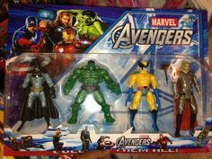 The new Avengers action pack...minus two Avengers, plus an X-Man and a member of the Justice League