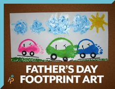 Father's Day footprint art #homeschooling #homeschool #fathersday