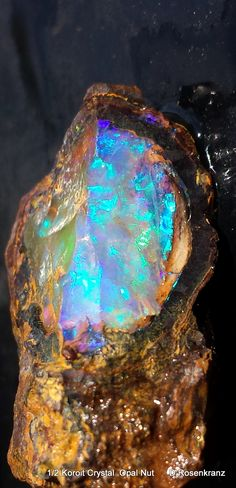 Koroit Crystal Opal. This opal looks like nebulae in Space!