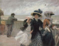 Coup de vent (Gale) - René François Xavier Prinet French painter 1861-1946 Impressionism