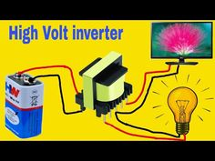 mini Inverter is very easy circuit and at home use: Transistor = D 882 Resistor = mobile charger Transformer ( any ) capacitor = . Electronics Basics, Electronics Components, Electronics Projects, Electronic Circuit Design, Electronic Engineering, Electronic Schematics, Electronic Devices, Joule Thief, Diy Speakers