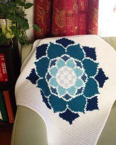 The Lotus Rose Blanket Crochet Pattern PDF, Nonprofit Shop, Baby Blanket, Car… Manta Crochet, Crochet Baby, Knit Crochet, Crochet Blanket Patterns, Crochet Stitches, Crochet Blankets, Crochet Afghans, Crochet Crafts, Crochet Projects