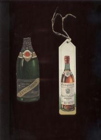 2 Vintage French Advertising Bookmarks Cognac Bisquit & Ernest Irroy Champagne, Circa 1950s #FollowVintage