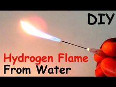 How to Make a HYDROGEN FLAME GENERATOR from WATER at HOME   DIY - YouTube
