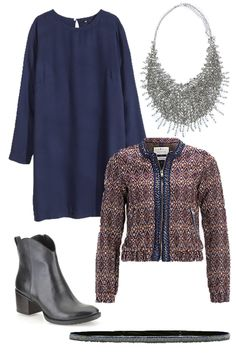 #dress #statementnecklace #jacket #belt #enkellaarsjes #christmas #nye